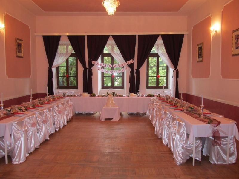 Horní sál zámecké hospůdsky