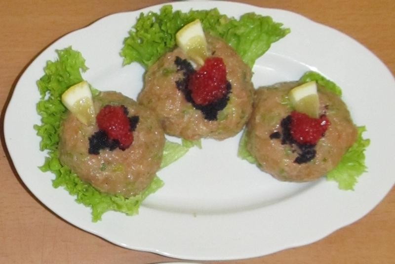 Mini tataráčky z lososa